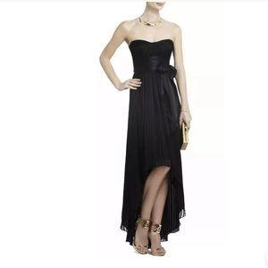 BCBG Max Azria Dress Black Silk Charmeuse Hi Lo 2